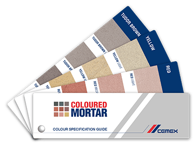 coloured mortar swatchbook