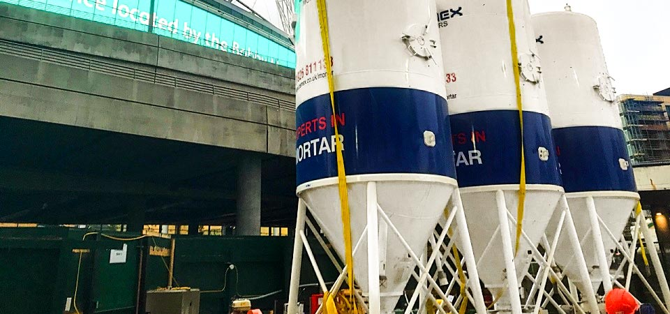 Dry Silo Mortar Provided for Wembley Park Regeneration