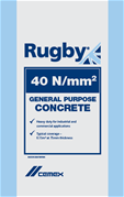 Rugby 40N/mm2 concrete